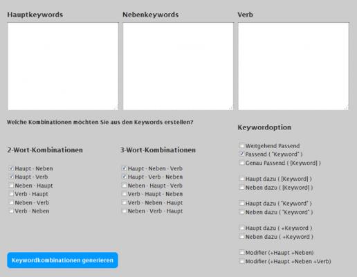 Kim keyword generator