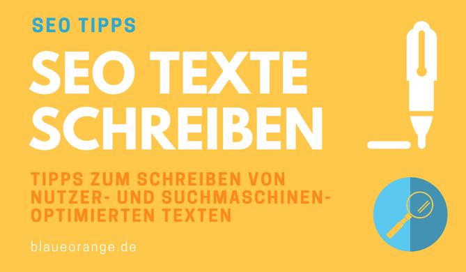 SEO Text schreiben – SEO Tipp