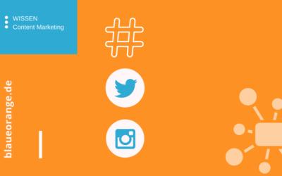 Hashtags verwenden und finden