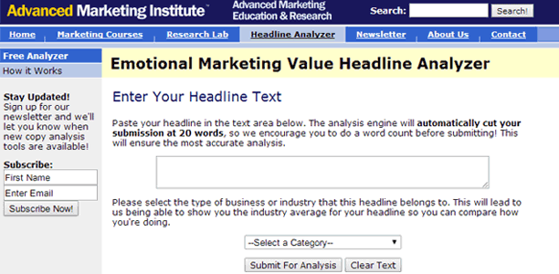 Emotional Headline Marketing Value