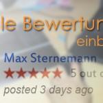 Google Bewertungen einbinden – so geht's