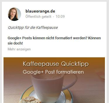 Googleplus formatieren