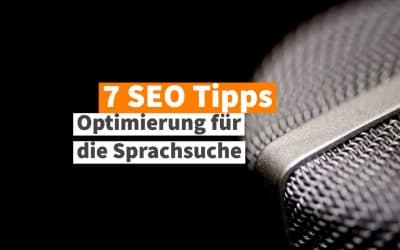 7 SEO Tipps Voice Search