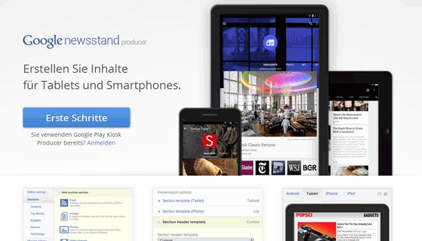Google Kiosk als Content Marketing Strategie
