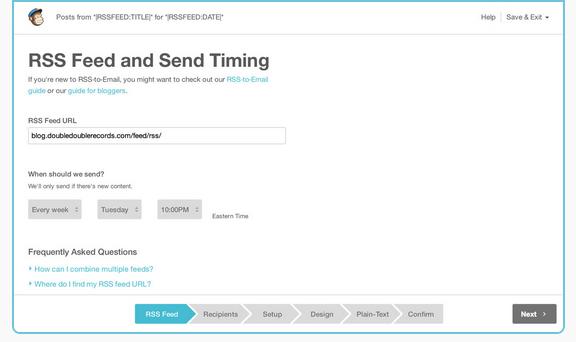 Content Marketing mit Mailchimp