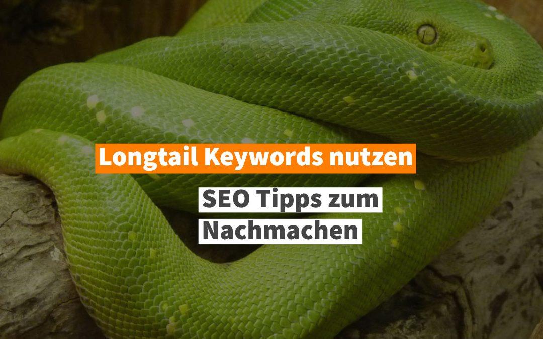 Longtail Keywords einsetzen