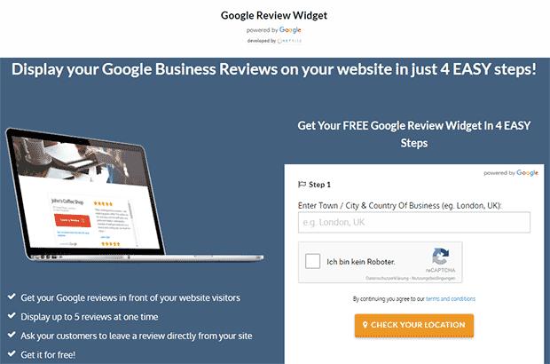Google Bewertungen schnell einbinden mit Free Google Reviews Widget von Netrite