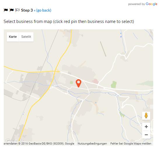 Unternehmen in Google Maps Karte