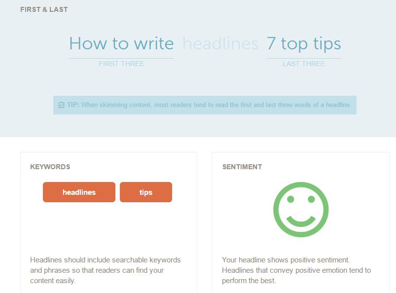 Gute Headlines schreiben mit dem Analyzer Tool