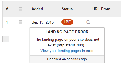 Landing Page Fehler Aufspüren