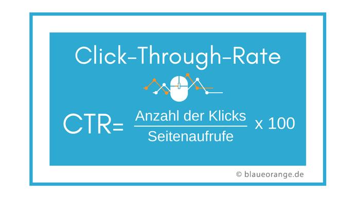 Formel zur Berechnung der Click-Through-Rate