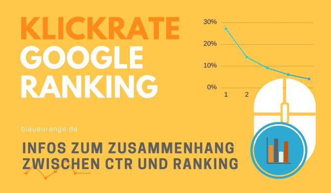 Click-Through-Rate und Google Ranking