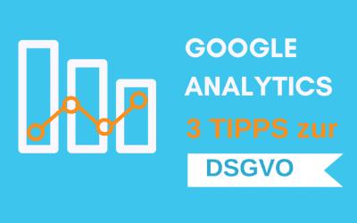 DSGVO-Google-Analytics anpassen