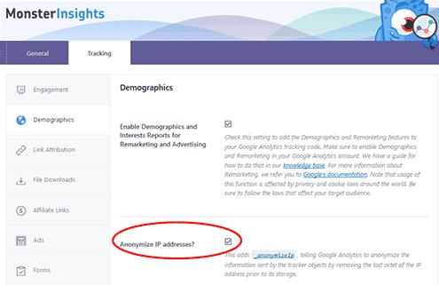 IP Adressen bei Google Analytics anonymisieren