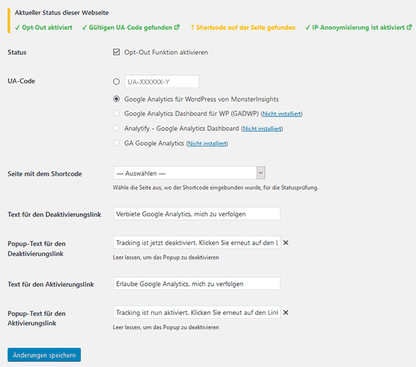 Google Analytics Opt Out einrichten