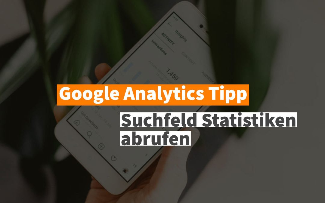 Suchfeld Statistiken in Google Analytics