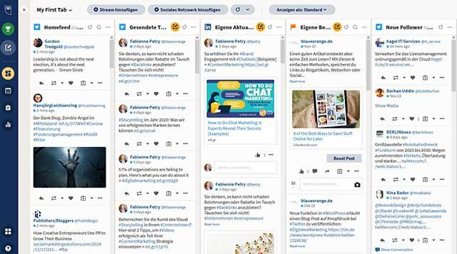 Social Media Management mit hootsuite